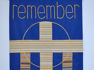 Remember banner with cross